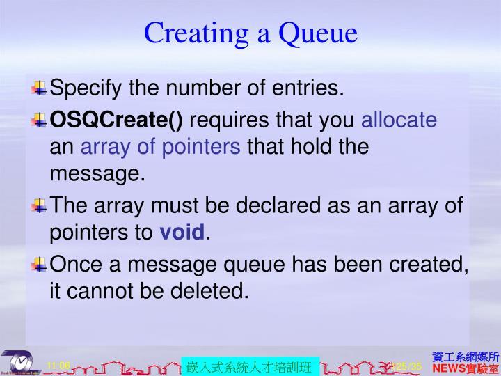 Creating a Queue