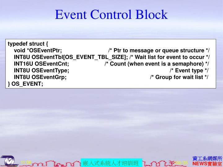 Event Control Block