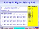 finding the highest priority task