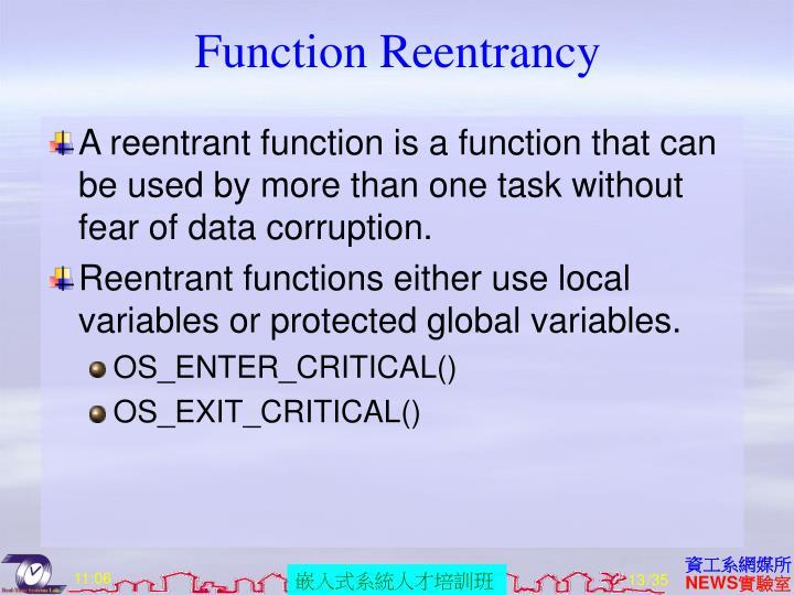 Function Reentrancy
