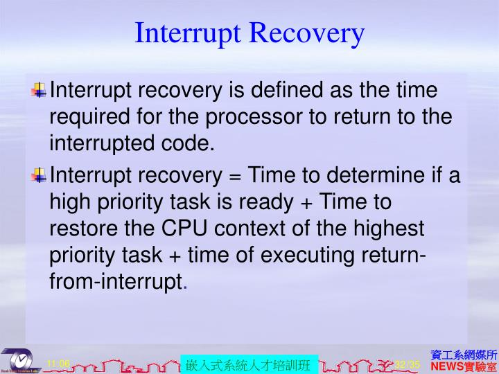 Interrupt Recovery