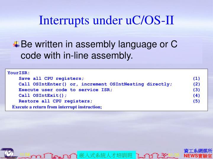 Interrupts under uC/OS-II