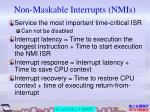 non maskable interrupts nmis