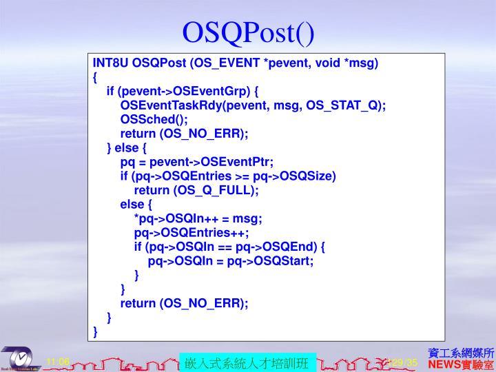 OSQPost()