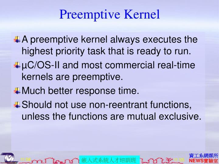Preemptive Kernel