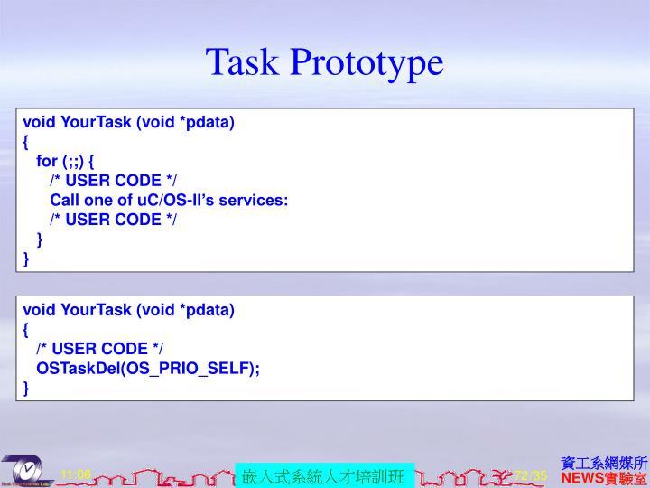 Task Prototype