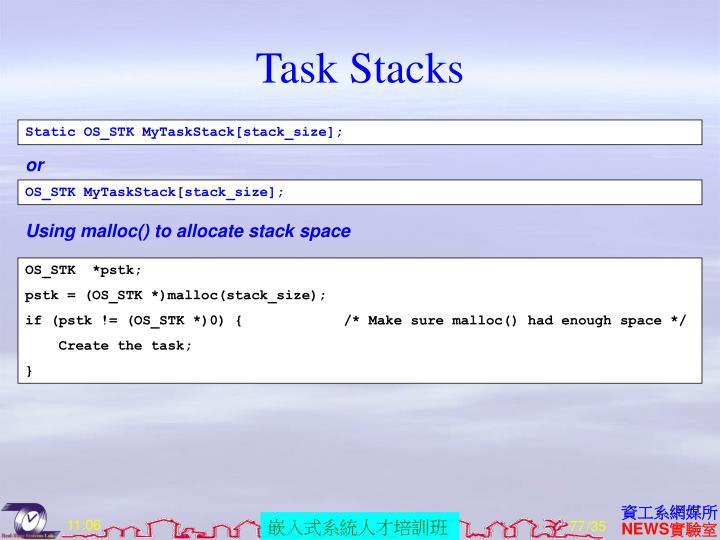 Task Stacks