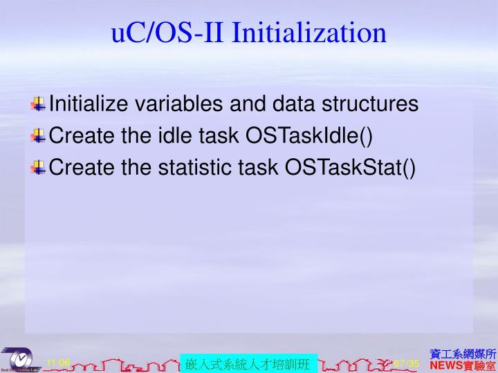 uC/OS-II Initialization