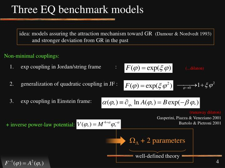 Three EQ benchmark models