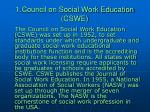1 council on social work education cswe