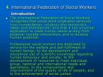 4 international federation of social workers