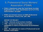 5 professional social workers association pswa
