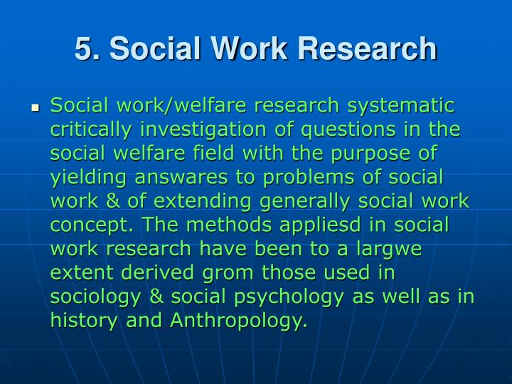 5. Social Work Research