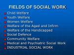 fields of social work