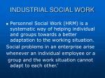 industrial social work