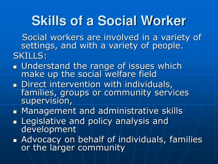 Skills of a Social Worker