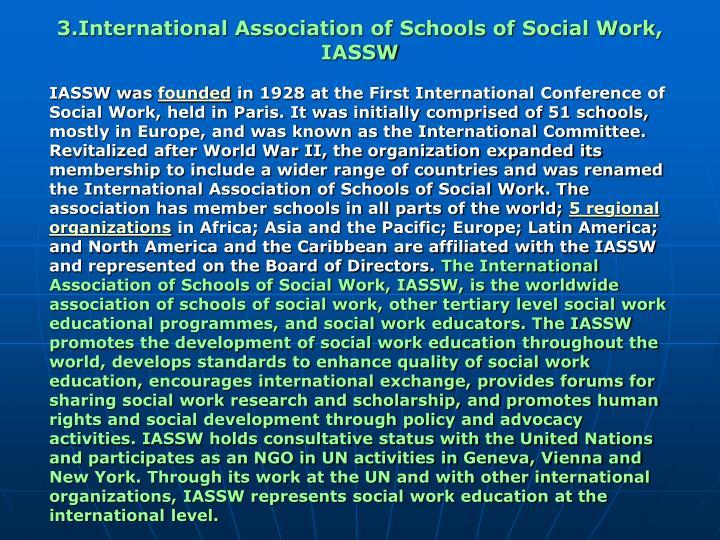 3.International Association of Schools of Social Work, IASSW