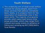 youth welfare
