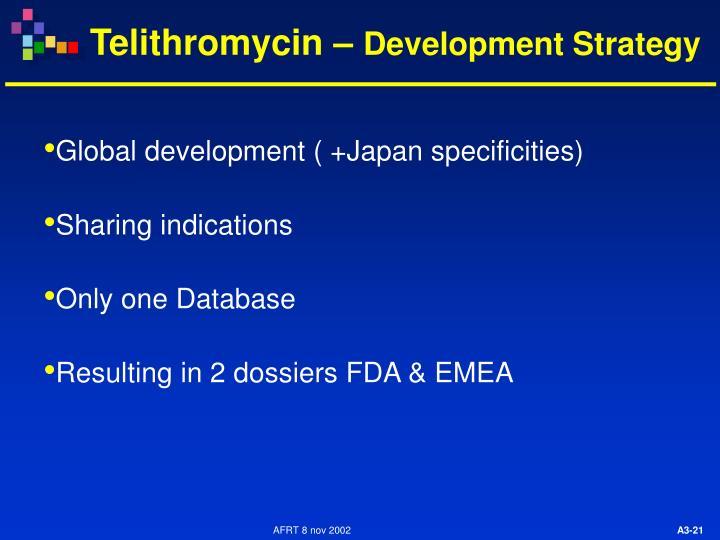 Global development ( +Japan specificities)