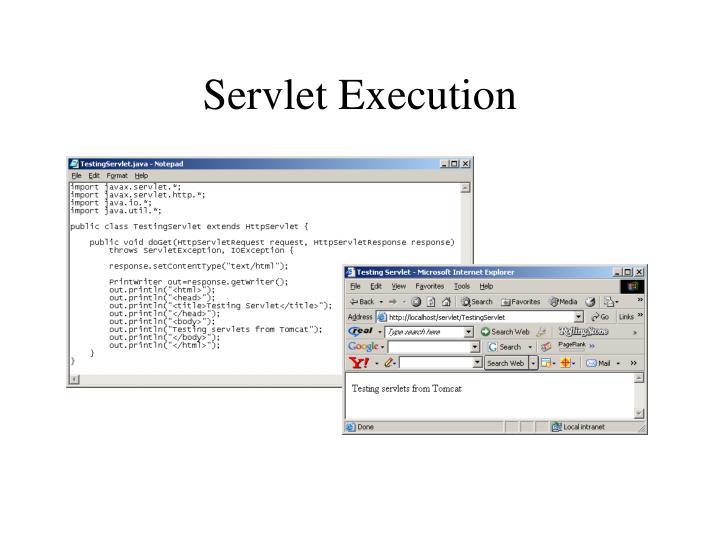 Servlet Execution