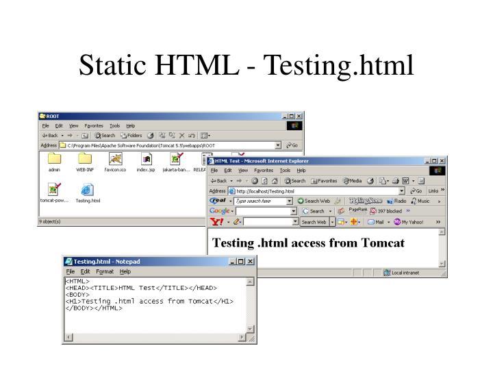 Static HTML - Testing.html