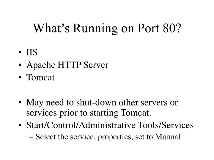 What's Running on Port 80?