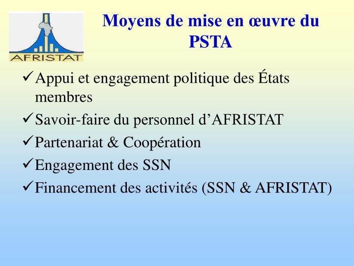 Appui et engagement politique des États membres
