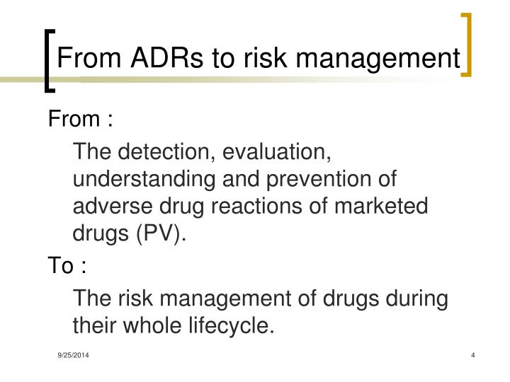 From ADRs to risk management