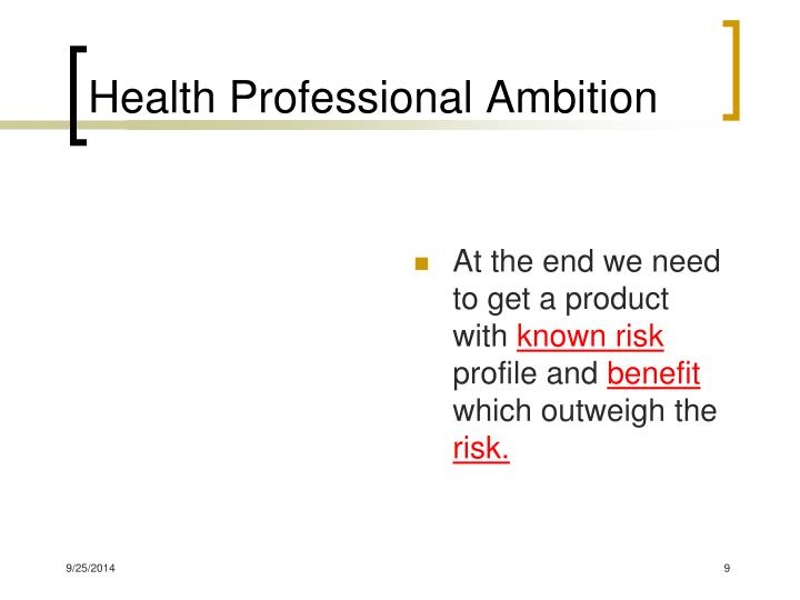 Health Professional Ambition