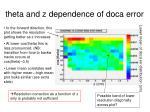 theta and z dependence of doca error
