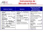 instrumentos de mercado de dinero