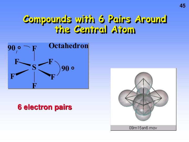 Compounds with 6 Pairs Around the Central Atom