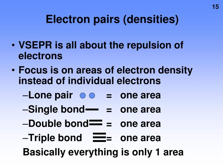 Electron pairs (densities)