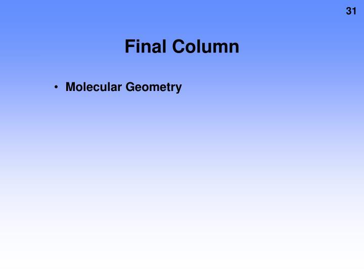 Final Column