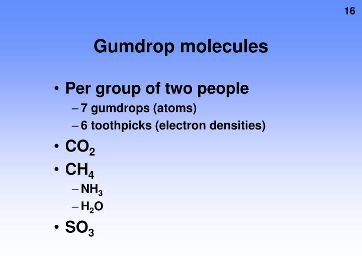 Gumdrop molecules