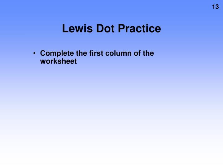 Lewis Dot Practice