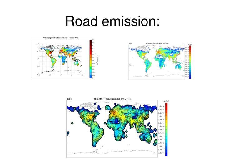 Road emission: