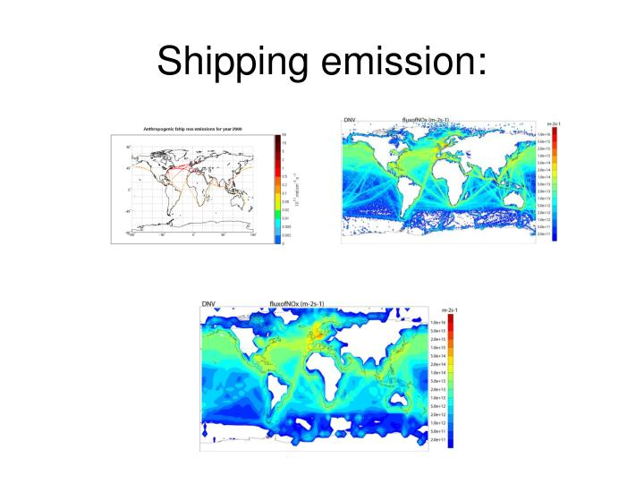 Shipping emission: