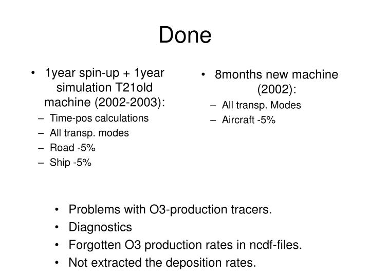 1year spin-up + 1year simulation T21old machine (2002-2003):