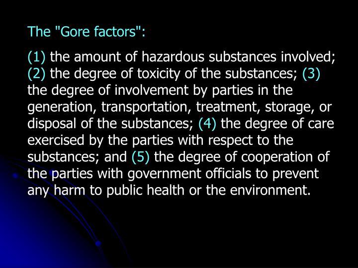"The ""Gore factors"":"