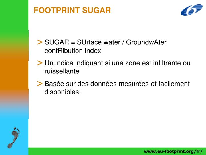 FOOTPRINT SUGAR