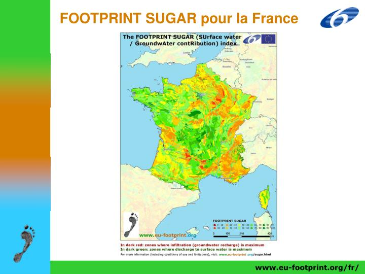 FOOTPRINT SUGAR pour la France