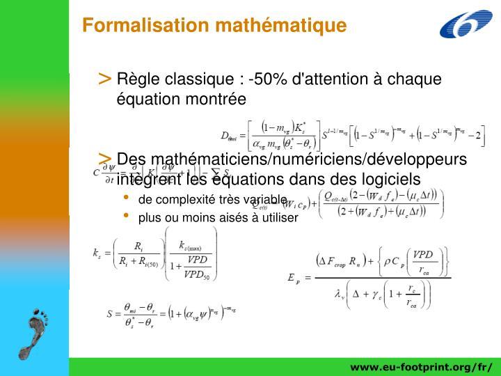 Formalisation mathématique