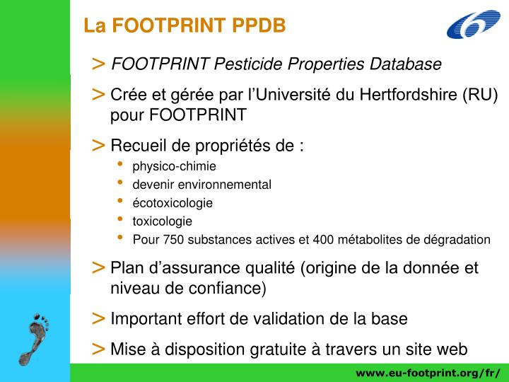 La FOOTPRINT PPDB