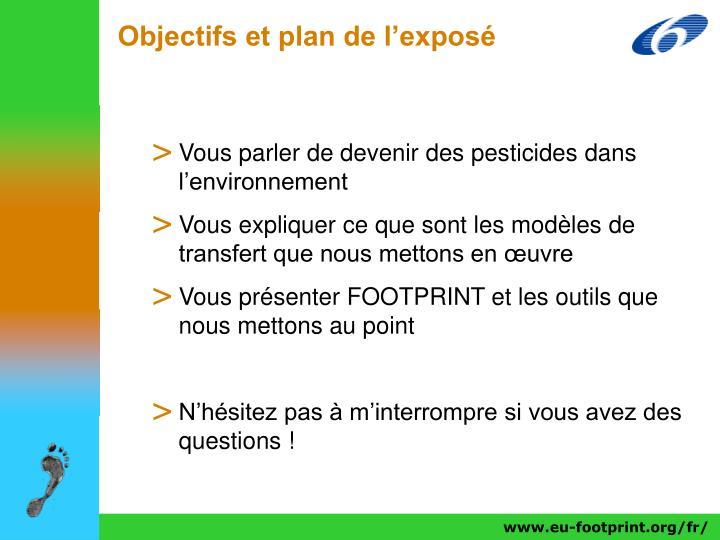 Objectifs et plan de l'exposé