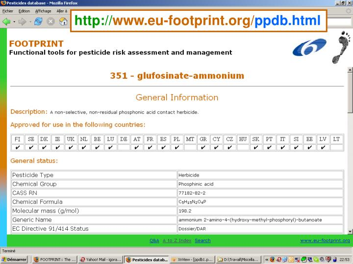 The FOOTPRINT PPDB