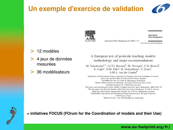 Un exemple d'exercice de validation