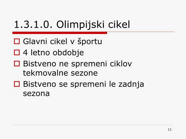 1.3.1.0. Olimpijski cikel