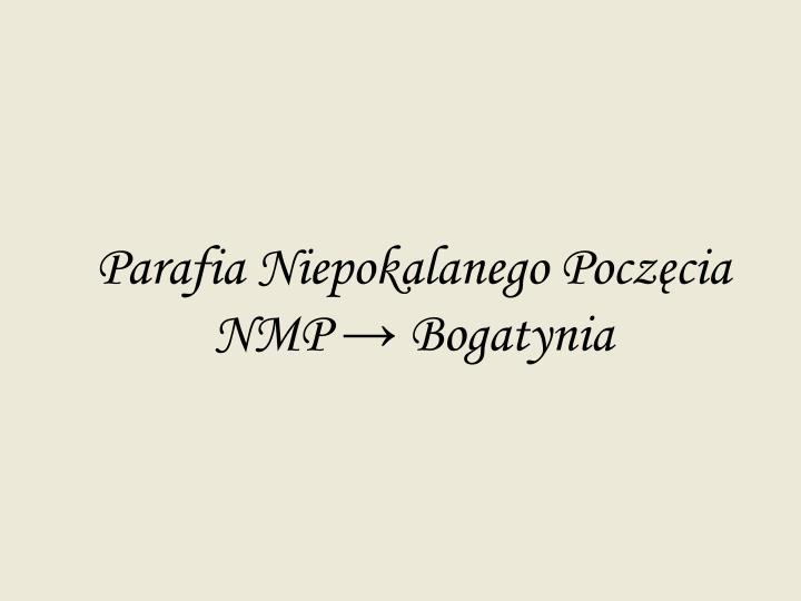 Parafia Niepokalanego Poczęcia NMP → Bogatynia