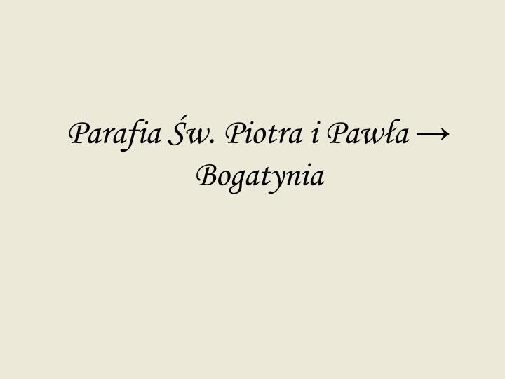 Parafia Św. Piotra i Pawła → Bogatynia